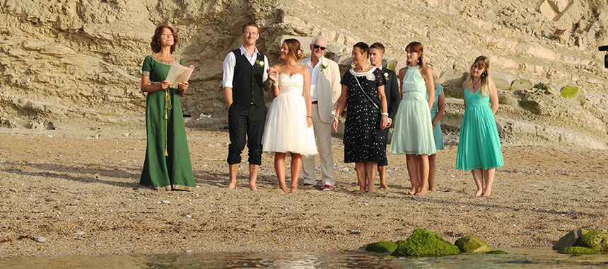 Agathia English speaking celebrant for your beach wedding in France